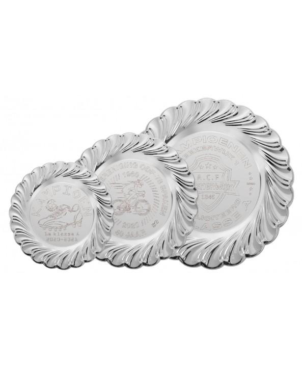 Wandbord D118 zilver **
