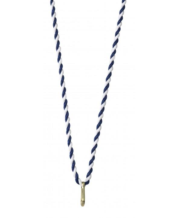 Medaillekoord  Blauw-wit **