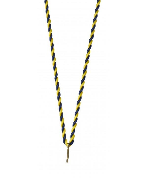 Medaillekoord Blauw-geel **