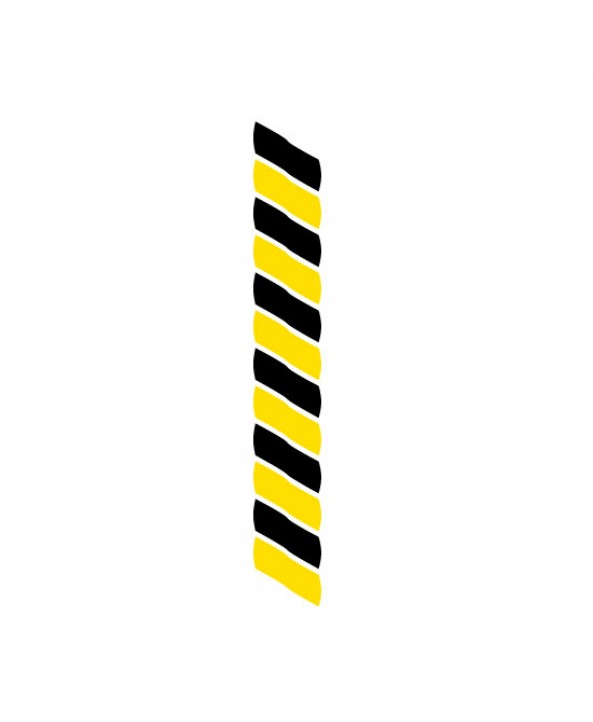 Medaillekoord Zwart-geel **