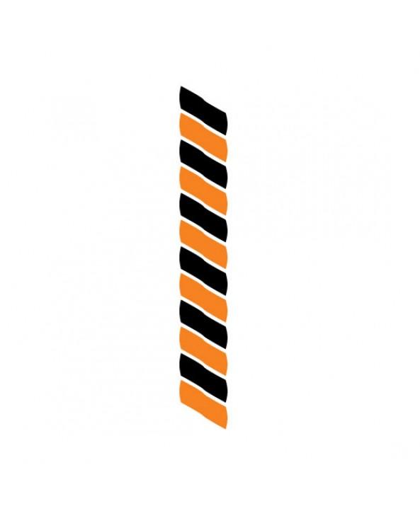 Medaillekoord Zwart-oranje **