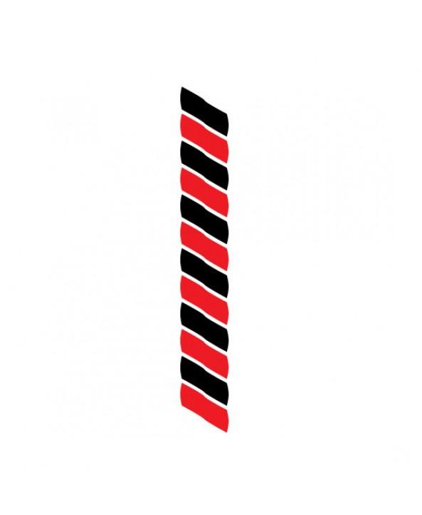 Medaillekoord Zwart-Rood **